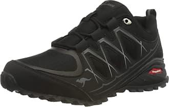 Kangaroos Mens K-Krail S Hiking Shoe, Jet Black Steel Grey, 12.5 UK