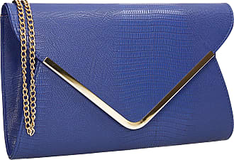 Swankyswans Lauren Womens Party Prom Croc Effect Evening Clutch Bag Royal Blue