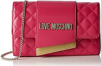 a498396e05 Love Moschino Borsa Quilted Nappa PU, Sac à bandoulière Femme, Rose (Fuxia)