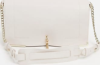 French Connection cross body bag with gold hardware in natural-Beige