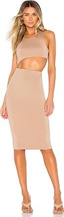 Superdown x Chantel Jeffries Jewel Midi Dress in Beige