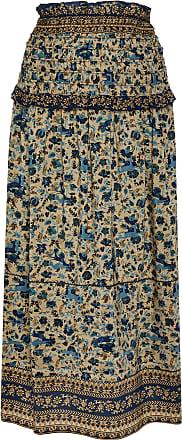 Sea New York Smocked Silk Midi-Skirt