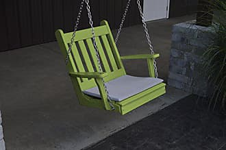 A & L Furniture A & L Furniture Poly Traditional English Chair Swing, Lime