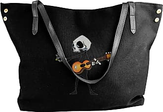 Juju Bare Bones Music At Its Best Womens Classic Shoulder Portable Big Tote Handbag Work Canvas Bags
