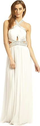 Ikrush Polly Evening Maxi Dress White UK 14