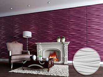 Venta-Unica.com Panel mural 3D ONDIA para pintar - Pack de 3m² - lote de 6 piezas