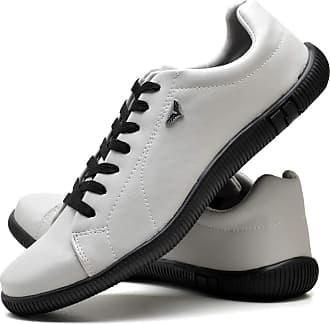 Juilli Sapatênis Sapato Casual Com Cadarço Masculino JUILLI 920DB Tamanho:42;cor:Branco;gênero:Masculino