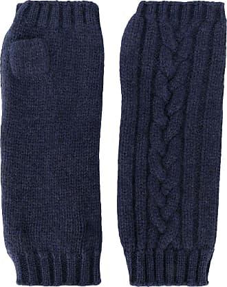 Pringle Of Scotland Par de luvas sem dedos de tricô - Azul