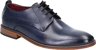 Base London Base Script Washed Mens Leather Material Formal Shoes Navy - 10 UK