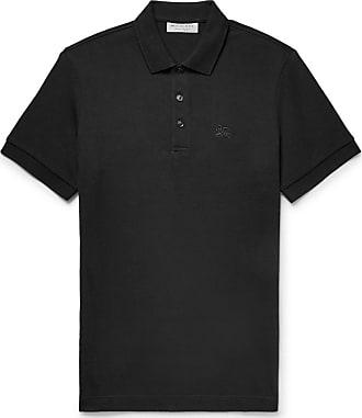 Burberry Slim-fit Cotton-piqué Polo Shirt - Black