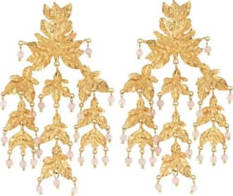 Christie Nicolaides Magdalena Earrings Gold & Pale Pink