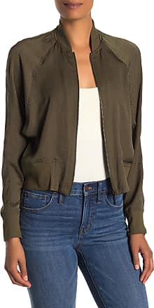 Kenneth Cole Satin Raglan Bomber Jacket