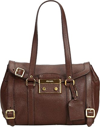 6e135a5d2e3d Prada Brown Dark Brown Leather Shoulder Bag Italy