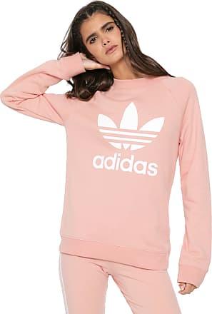 adidas Originals Moletom Fechado adidas Originals ADICOLOR Trf Crew Sweat Rosa