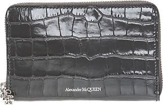 Alexander McQueen Branded Wallet Womens Grey