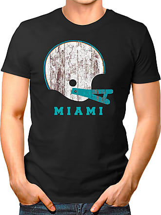 OM3 Miami-Helmet - T-Shirt | Mens | American Football Shirt | S, Black