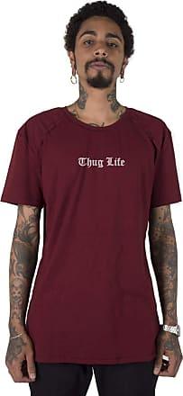 Stoned Camiseta Longline Gold Thug Life - Llgthuglif-bd-03