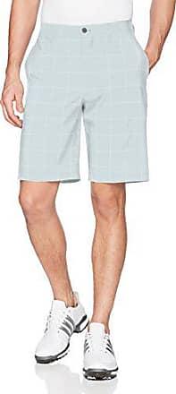 PGA TOUR Short court à carreaux pour hommes, grille diagonale blanc brillant, 38
