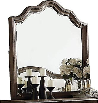 ACME Acme 26114 Baudouin Mirror, Weathered Oak