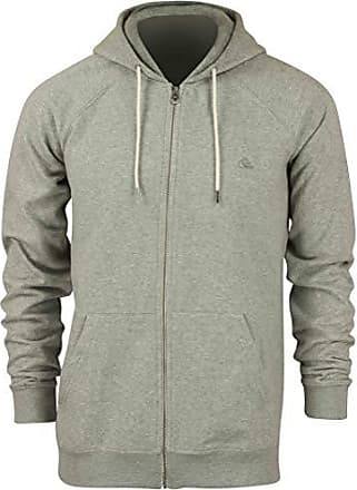 Quiksilver Mens Everyday Zip Hoodie Sweatshirt, Light Grey Heather, M