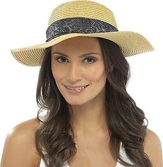 Tom Franks Womens Floppy Hat Paper Straw Snake Print Ribbon Large Fedora Beach Fashion M/L