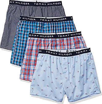 73671dc28aae Tommy Hilfiger Mens 3-Pack Cotton Classics Woven Boxers, Red, XX-Large