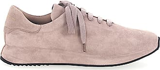Officine Creative Lace up shoes calfskin suede Logo rose
