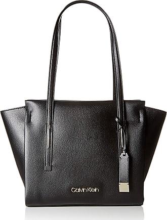 2d6e2ab917 Calvin Klein Jeans Frame Med Shopper, Womens Shoulder Bag, Black, 14x30x35  cm (