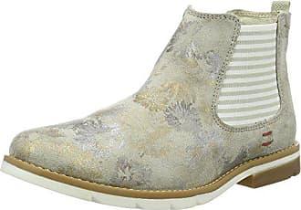 e2914edb6d1c86 s.Oliver Damen 25335 Chelsea Boots Grau (Nude Gold Flow 217) 37