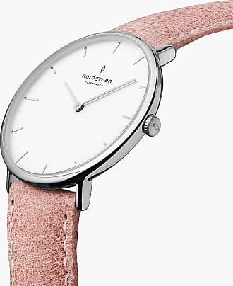 Nordgreen Native | White Dial - Pink Leather - 32mm / Rose Gold