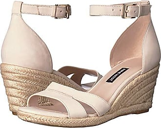 Nine West Jabrina Espadrille Wedge Sandal (Cotton) Womens Shoes