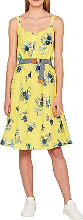 EDC by Esprit Womens 059cc1e014 Dress, Multicolour (Light Yellow 745), 10 (Size: 36)