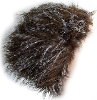 GFM Ladies Long Fur Faux Fur (RCN Main Colour: Brown) Russian/Cossack Hat in Pill Box Style