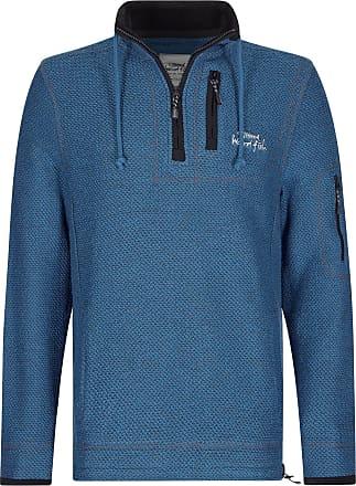 Weird Fish Parkway 1/4 Zip Technical Macaroni Sweatshirt Ensign Blue Size 2XL