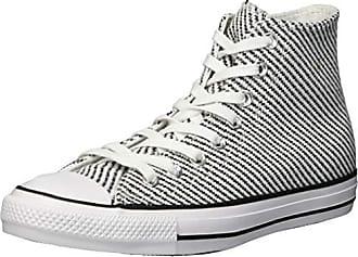Converse Womens Chuck Taylor All Star Woven High Top Sneaker, White/Black/Mason, 5 M US