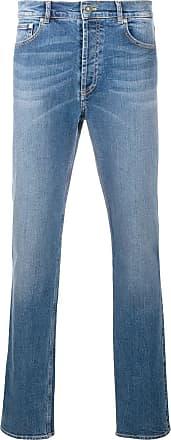 Givenchy Calça jeans reta com efeito desbotado - Azul