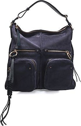 a3b8d3892 See By Chloé See By Chloé Woman Patti Leather-trimmed Suede Tote Dark  Purple Size