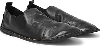 Marsèll Cap-toe Washed-leather Loafers - Black