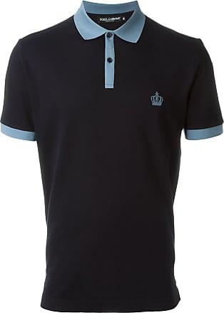 689c0e7c27 Dolce   Gabbana Camisa polo com contraste - Azul