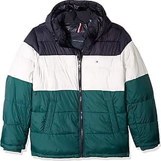 79b5d44f Tommy Hilfiger Mens Big and Tall Classic Hooded Puffer Jacket, Green Combo,  2X