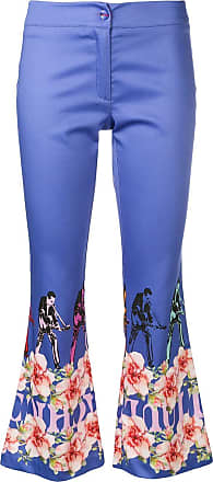 Ultra Chic floral print trousers - Blue