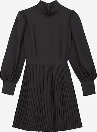 The Kooples Short pleated black dress - WOMEN