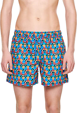 Happy Socks Colourful, Fashionable, Patterned Swim Suit for Men, Hexagon (X-Large)