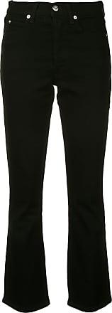 Eve Denim Calça jeans flare cropped - Preto