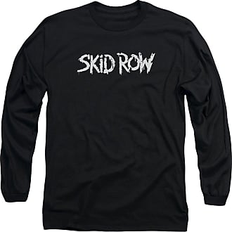 Popfunk Skid Row Logo Unisex Adult Long-Sleeve T Shirt for Men and Women Black