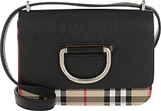 3d2702133debd Burberry Vintage Check D-Ring Bag Mini Leather Black Umhängetasche schwarz