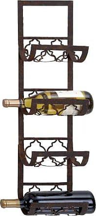 UMA Enterprises Inc. Deco 79 Metal Wall Wine Rack, 28 by 8-Inch