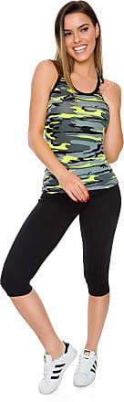 FUTURO FASHION Womens Capri Sports Pants Sportswear Gym Workout Running Fit 3/4 Leggings FS1107 Black
