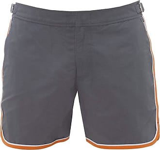 Orlebar Brown Mens Setter Shorter-Length Swim Shorts 34 Granite Grey