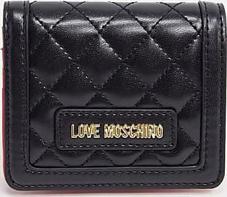 Love Moschino Kleine, gesteppte Geldbörse in Schwarz